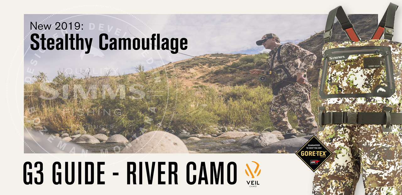 Simms G3 Guide Waders - River Camo